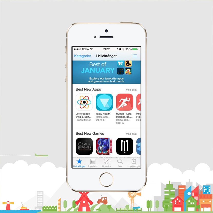 First page on App Store in 23 countries!
