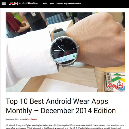 Top 10 best Android Wear app