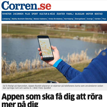 Artikel about Runbit in Linköping Corren